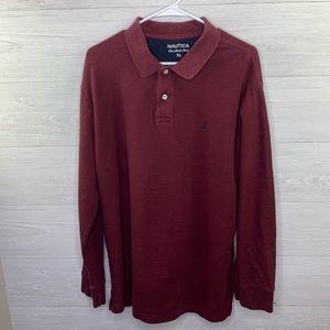 Nautica | True Deck Long Sleeve Maroon Shirt